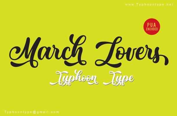 March Lovers Script Font