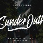Sunder Outh Brush Font