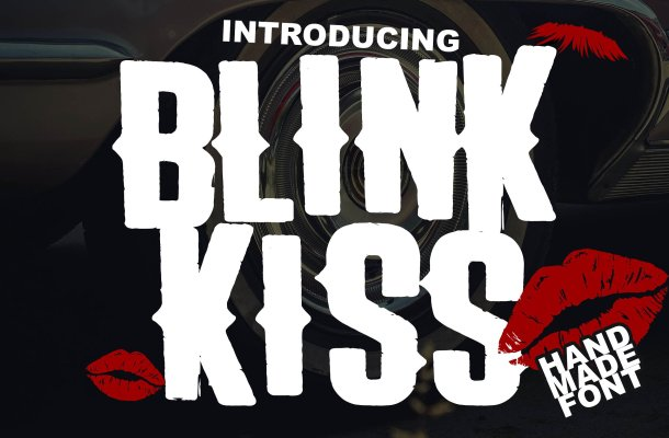 The Blink Kiss Logotype Font