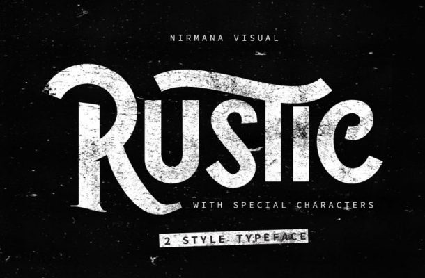 The Rustic Typeface