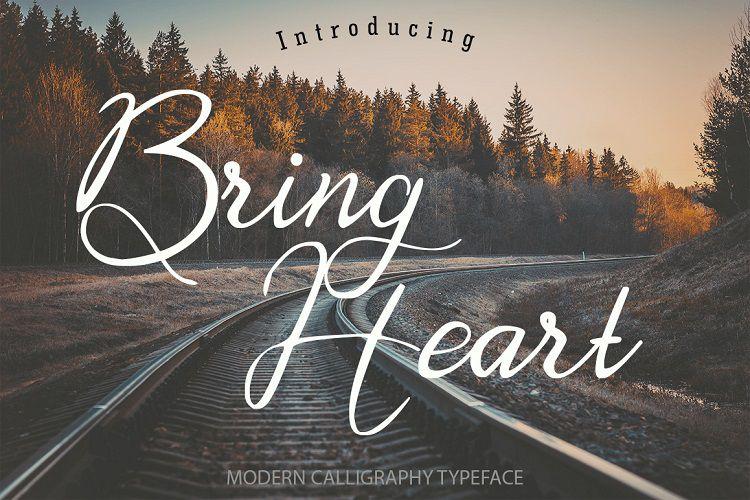 Bring Heart Script Font