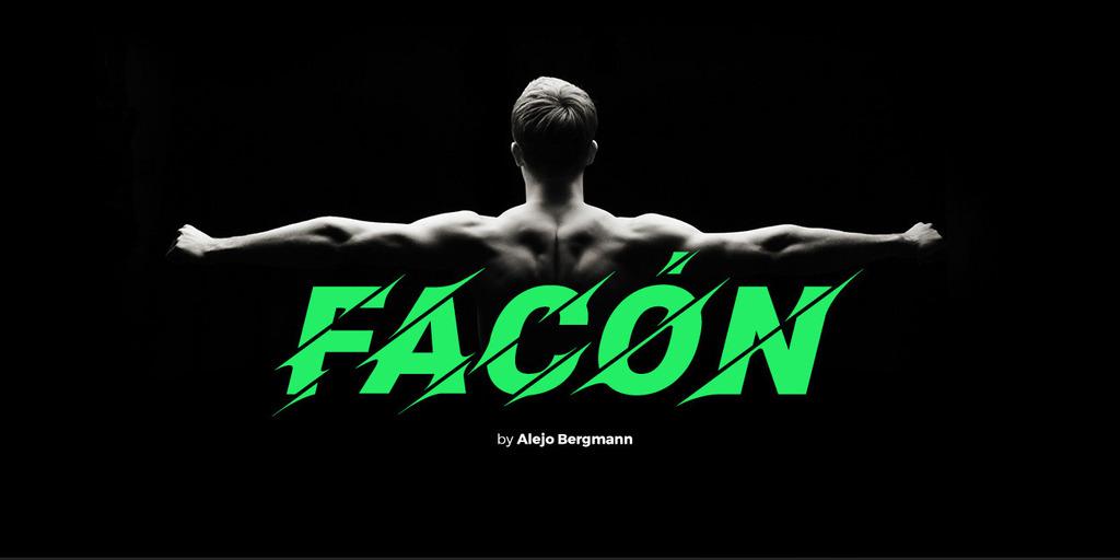 Facón Typeface