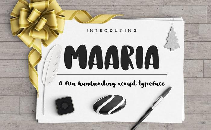Maaria Brush Font