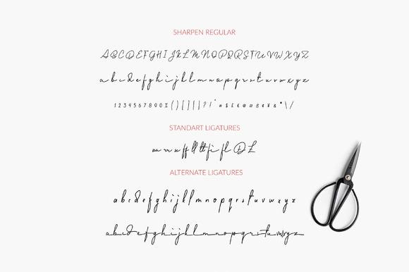 Sharpen Handwriting Font-2