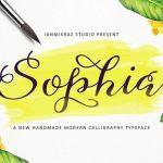 Sophia Script Font