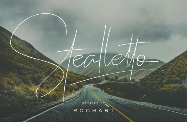 Stealletto Signature Font