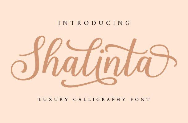 Shalinta Calligraphy Font