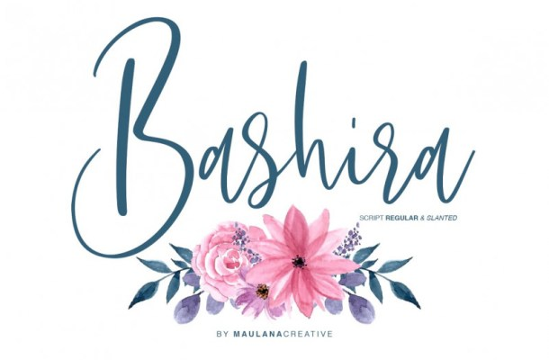 Bashira Handwritten Font