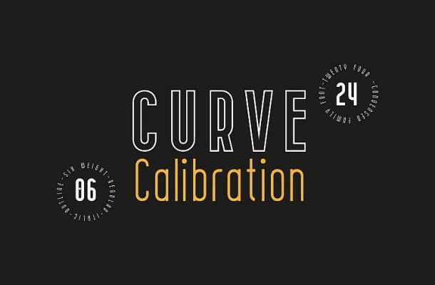CURVE Calibration Font Family