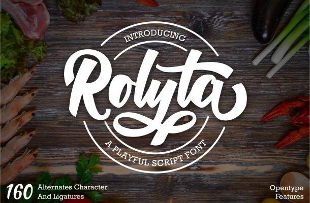 Rolyta Bold Script Font