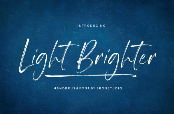 Light Brighter Brush Font