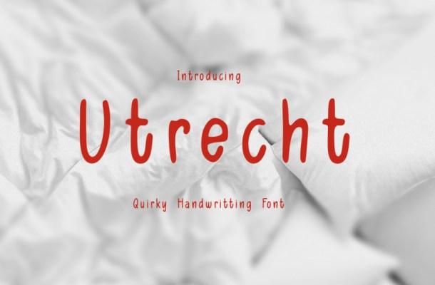 Utrecth Script Font