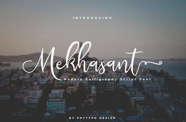 Mekhasant Script Font
