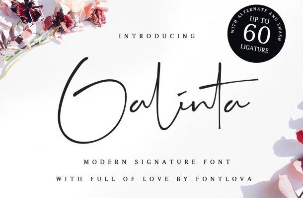 Galinta Signature Font
