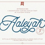 Aaleyah Monoline Script Font