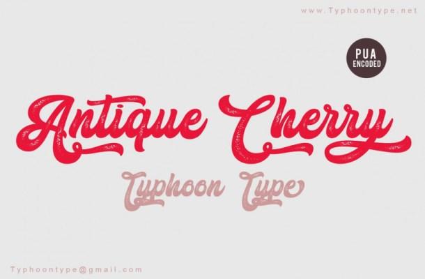 Antique Cherry Script Font