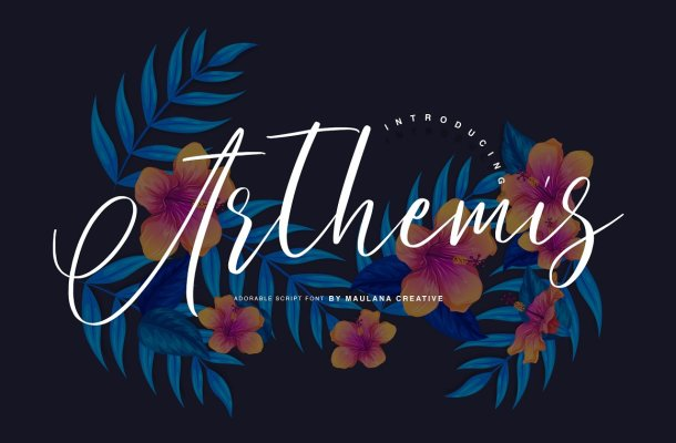 Arthemis Script Font