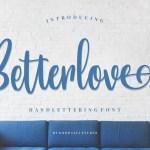 Betterlove Handlettering Font