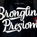 Brongline Presiom Script Font Demo