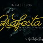 Grafesta Monoline Script Font