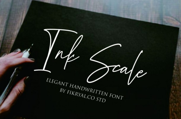 Ink Scale Handwritten Font