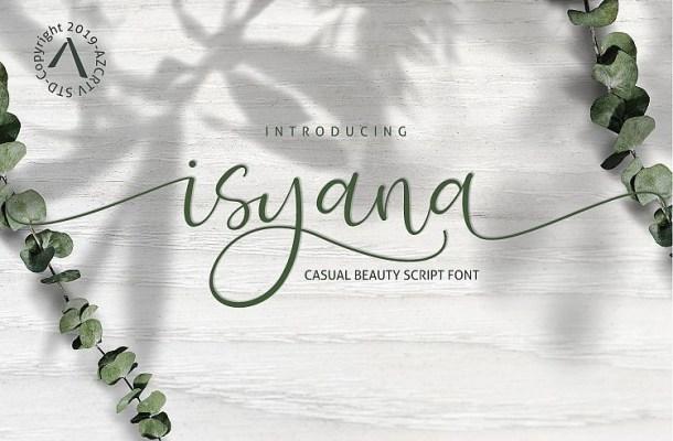 Isyana Script Font