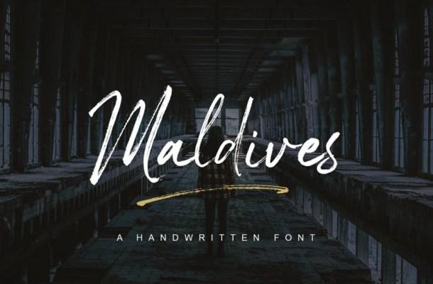 Maldives Handbrush Font