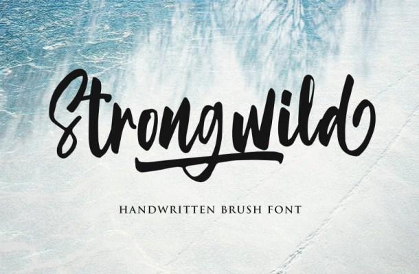 Strongwild Brush Font