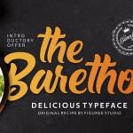 The Barethos Script Font