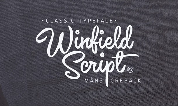 Winfield Script Font