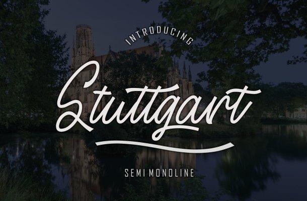 Stuttgart Handwritten Font