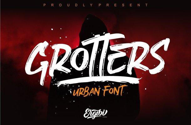 Grotters Brush Font