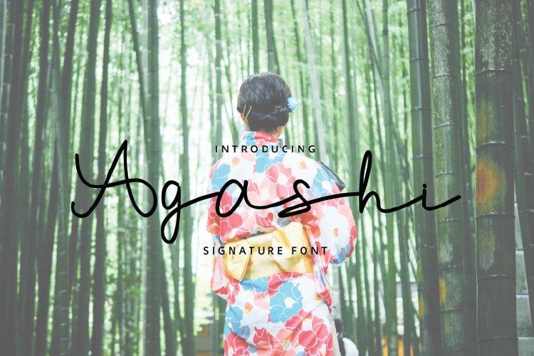 Agashi-Font