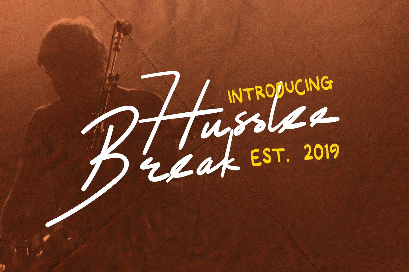 Husslee-Break-Font