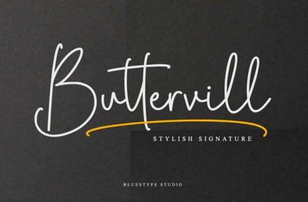 Buttervill Signature Font