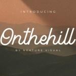 Onthehill – Monoline Script Font