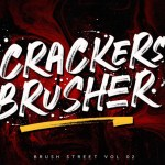 Crackers Brusher Font