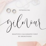 Gilmour Calligraphy Font