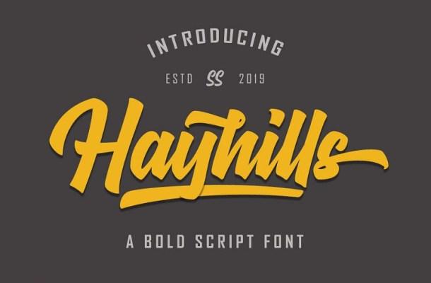 Hayhills Bold Script Font