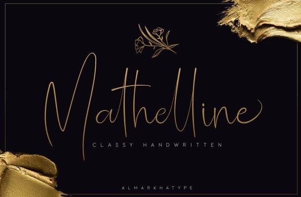 Mathelline Handwritten Font