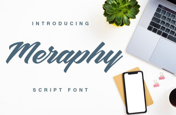 Meraphy Script Font