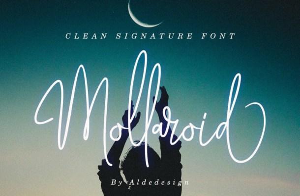Mollaroid Signature Font