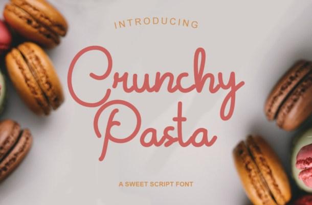 Crunchy Pasta Script Font