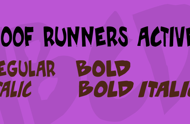 Roof runners active Font Family