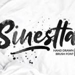 Sinestta Brush Font