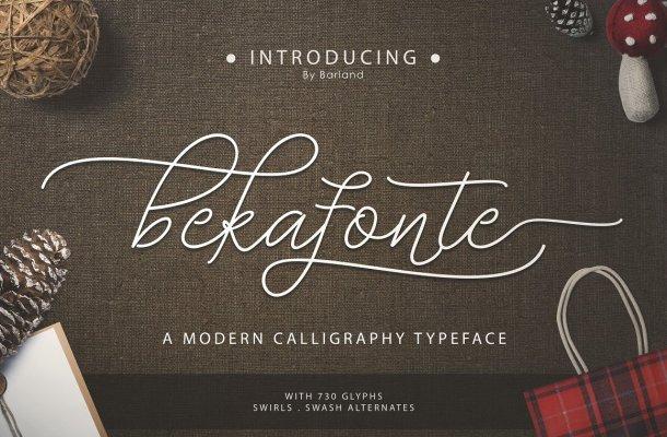Bekafonte Typeface