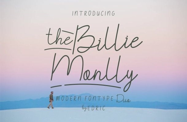 The Billie Monlly Font Duo