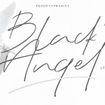 Black Angel – Signature Font