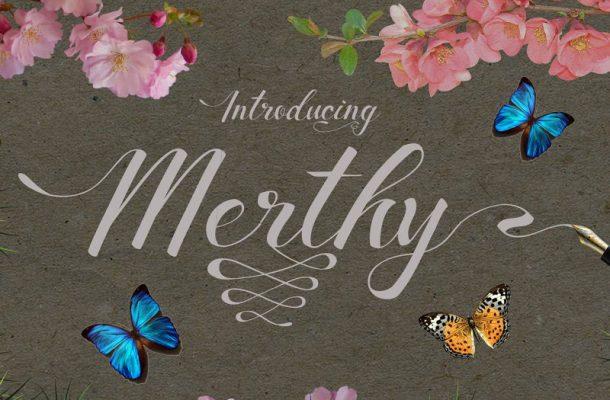 Merthy Script Font