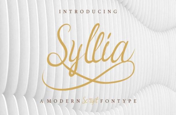 Syllia Calligraphy Font